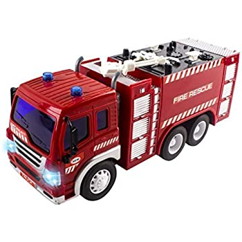 Amazon Com Liberty Imports R C Rescue Fire Engine Toy