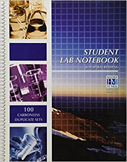 Student Lab Notebook: 100 Carbonless Duplicate Sets: Hayden McNeil ...