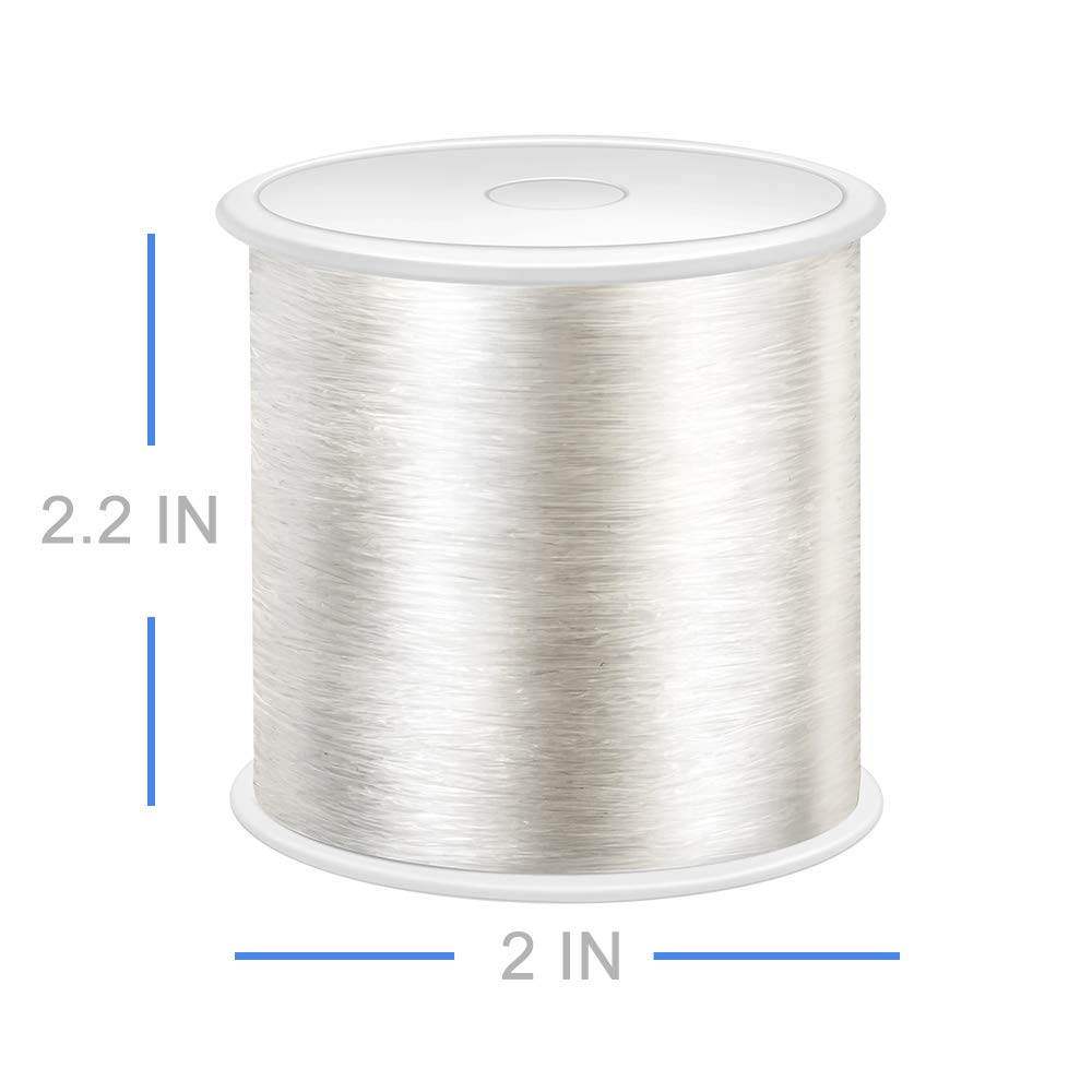 Suitable for DIY Jewelry Making Elastic Bracelet Rope Crystal Beading Cords Bracelet Making Can Easily Pass Through Beaded Jewelry Transparent and Shiny Elastic Beaded Line 320 FT Jewelry Cord