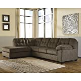 Flash Furniture Signature Design by Ashley Accrington 2-Piece RAF Sofa Sectional in Earth Microfiber Review