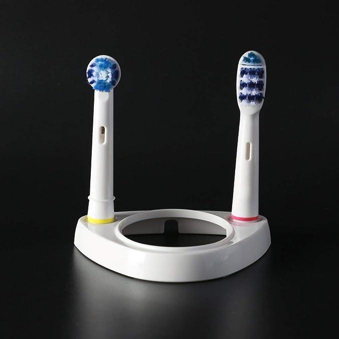 Soporte para cepillo de dientes eléctrico Soporte para cepillo de dientes para baño Stander Base Soporte para soporte 2 Cabezas para cepillo de dientes con ...