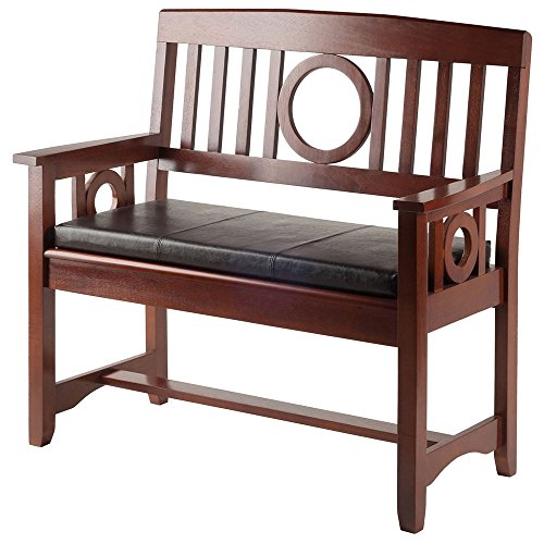 Winsome Wood Ollie 2 Piece Set Bench with (Winsome Walnut Bench)