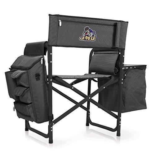 NCAA James Madison University Digital Print Fusion Chair, Dark Grey/Black, One Size by PICNIC TIME