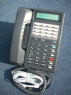 ESI Communications IVX DP1 16 Button Display Phone Charcoal (Charcoal Display Speakerphone)