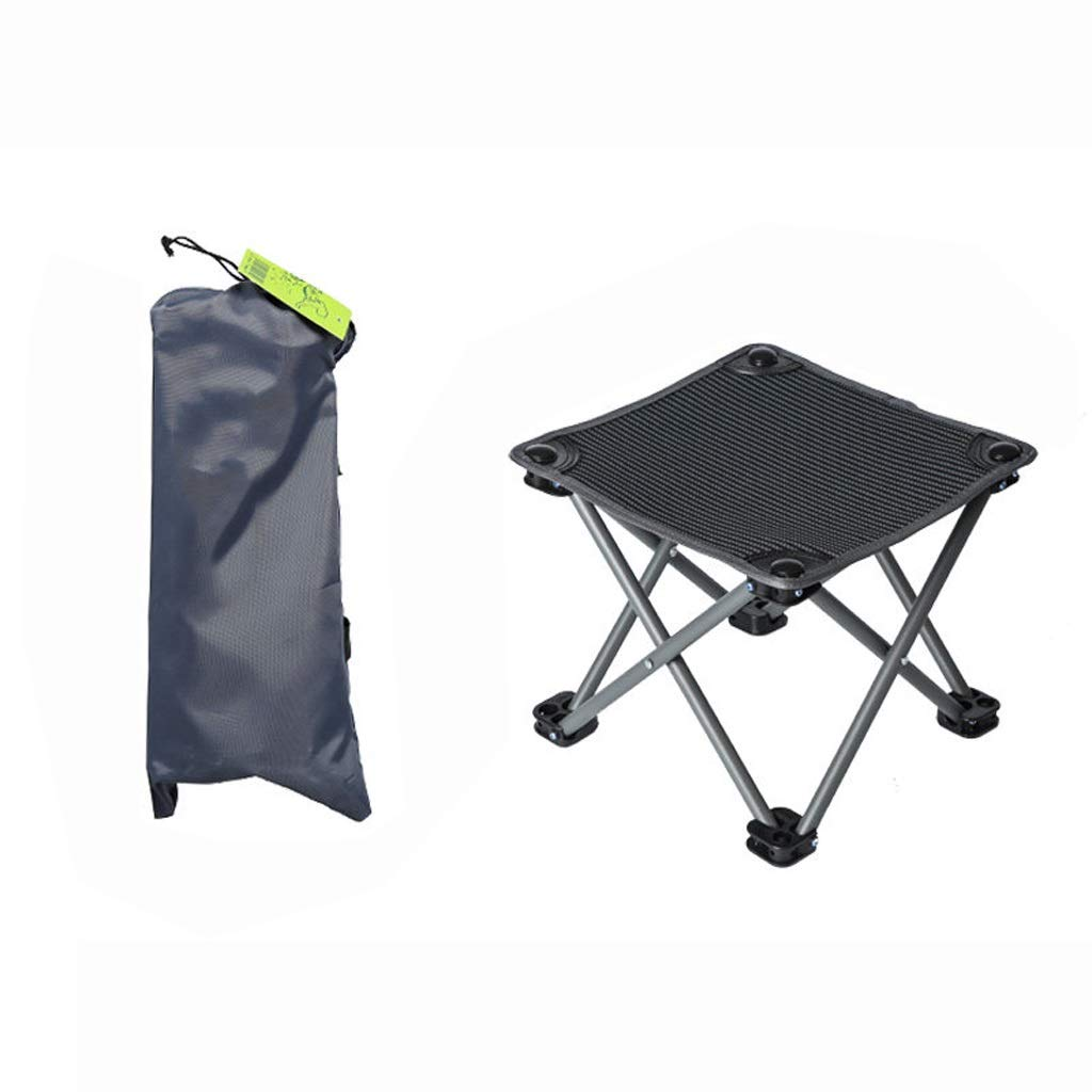 Noir 1 pack Hwt's Folding chair Siège de Camping en Plein Air Approprié pour La Pêche de Randonnée 29  29  25cm (Noir Rouge) (Couleur   Rouge, UnitCount   2 Packs)