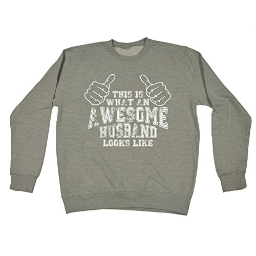 123t This Is What An Awesome Husband Looks Like Hubby Partner Married Man Marriage Wedding Newly Relationship Funny Sarcasm Humour Novelty Birthday Gift Christmas Present Ideas SWEATSHIRT by 123t