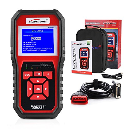 OBD2 Scanner, Auto Diagnostic Code Scanner KW850 Pro Universal Vehicle Engine Scanner OBD Scanners Tool Check Engine Light Code Reader for all OBD II Cars Since 1996【2018 Upgrade Exclusive Version】