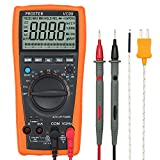 Proster Auto-Ranging Digital Multimeter 6000 Counts and 2000uF Digital Multimeters Meter Amp Ohm Volt Meter Multi Tester with Capacitance Test and Temperature Measurement