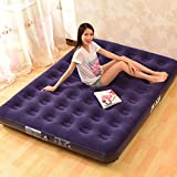 Vivona uxe Inflatable Bed Outdoor Soft Flocked Top for Comfort Airbed Twin Queen King Size Bed - (Bed Size: Twin Size)