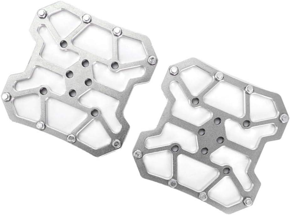 perfeclan Adaptador de Pedales Sin Clip para Bicicleta de Carretera y Montaña, Aluminio Ligero con Superficie Anodizada