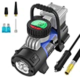 Mbrain Portable Air Compressor Pump - Upgraded DC 12V Small Digital Car Tire