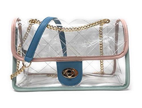 Clear Candy Quilted BYSUMMER Transparent body Cross Bag Bag Bag Shoulder Multi 61SBwAfnqx