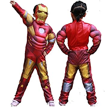 7d67d3e62 Complete Iron Man Costume + Cape Set (6-7 Yrs) Kids Halloween Cosplay