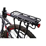 WEST BIKING Bike Cycling Adjustable Load 50Kg Rack Seat for Bicycle Cargo Shelf ( Black White )