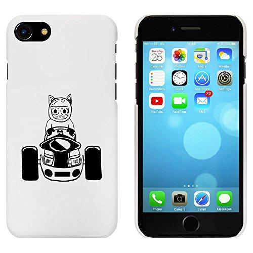 Weiß 'Katze Rennfahrer' Hülle für iPhone 7 (MC00056408)