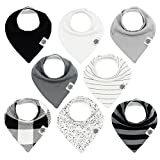 "Baby : The Good Baby Bandana Drool Bibs – 8 Pack Baby Bibs for Boys, Girls, Unisex - ""Lunar Set"""