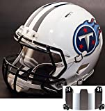 Riddell Speed TENNESSEE TITANS NFL REPLICA Football Helmet with S2BD Football Helmet Facemask/Faceguard and MIRRORED Eye Shield/Visor