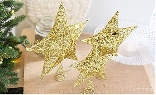 Wire Gold Tree Star for Chirstmas Decoration 7.8 Sricam Christmas Tree Topper