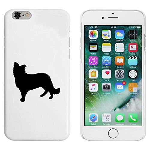 Blanc 'Silhouette de Chien de Berger' étui / housse pour iPhone 6 & 6s (MC00049842)