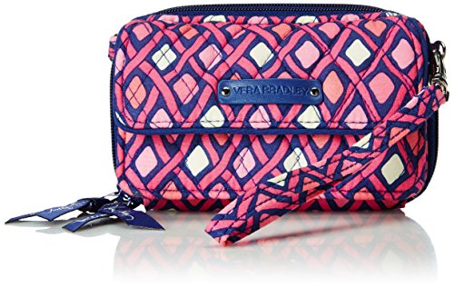 Vera Bradley Wallet With Strap - Vera Bradley All in One Crossbody and Wristlet in Katalina Pink Diamonds