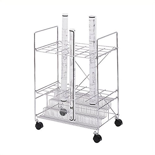 (Safco Products 3089 Chrome Wire Roll File, 24 Compartment,)