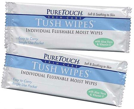 - Puretouch Skin Care Medicated Individual Flushable Moist Tush Wipes 12 Wipes