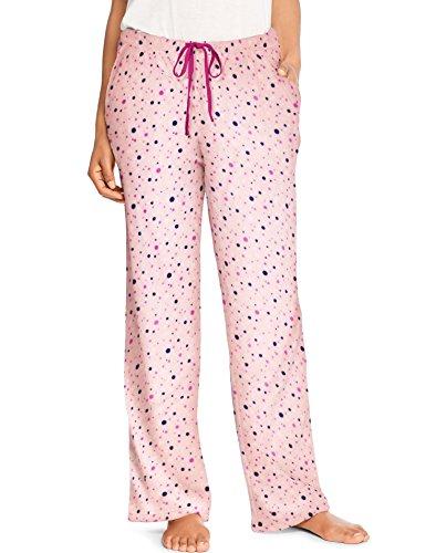 Hanes Womens Micro Fleece Pant (HAC80124) -Pink Bubbl -M