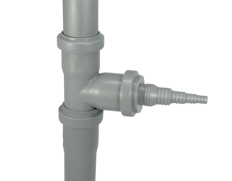 Airfit Schlauchnippel DN 32 f/ür Schlauch von /Ø 8 bis 25 mm KS-grau