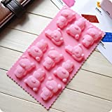 Lovely Bear Cake Cookie Chocolate Silicone Gel Mold Mould Baking Tray(1Pcs: Random Color)