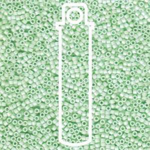 Matte Opaque Light Mint Ab (Db1526) Delica Myiuki 11/0 Seed Bead 7.2 Gram Tube Approx 1400 Beads