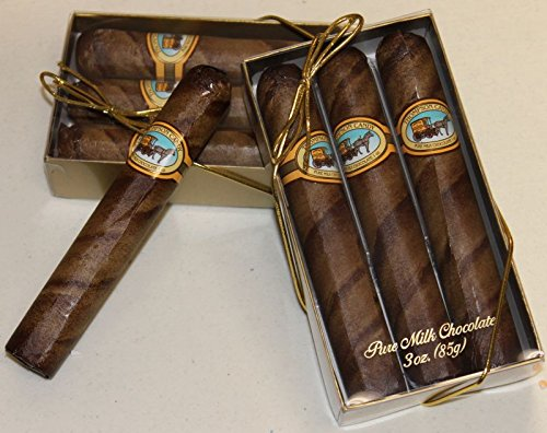 - Royale Milk Chocolate Cigars in 3 Pc Cigar Gift Box