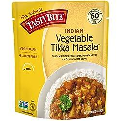 Tasty Bite Indian Entrée, Vegetable Tikka Masala, 10 Ounce (Pack of 6)