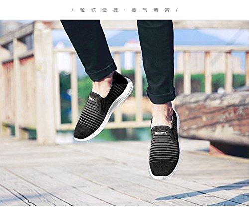 Mens Outdoor Vrijetijdsschoenen Gladde Slijtvaste Lichtgewicht Ademende Casual Schoenen Zwart