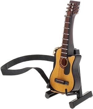 Amazon.es: Toygogo Modelo De Guitarra En Miniatura De 9 Cm para 1 ...