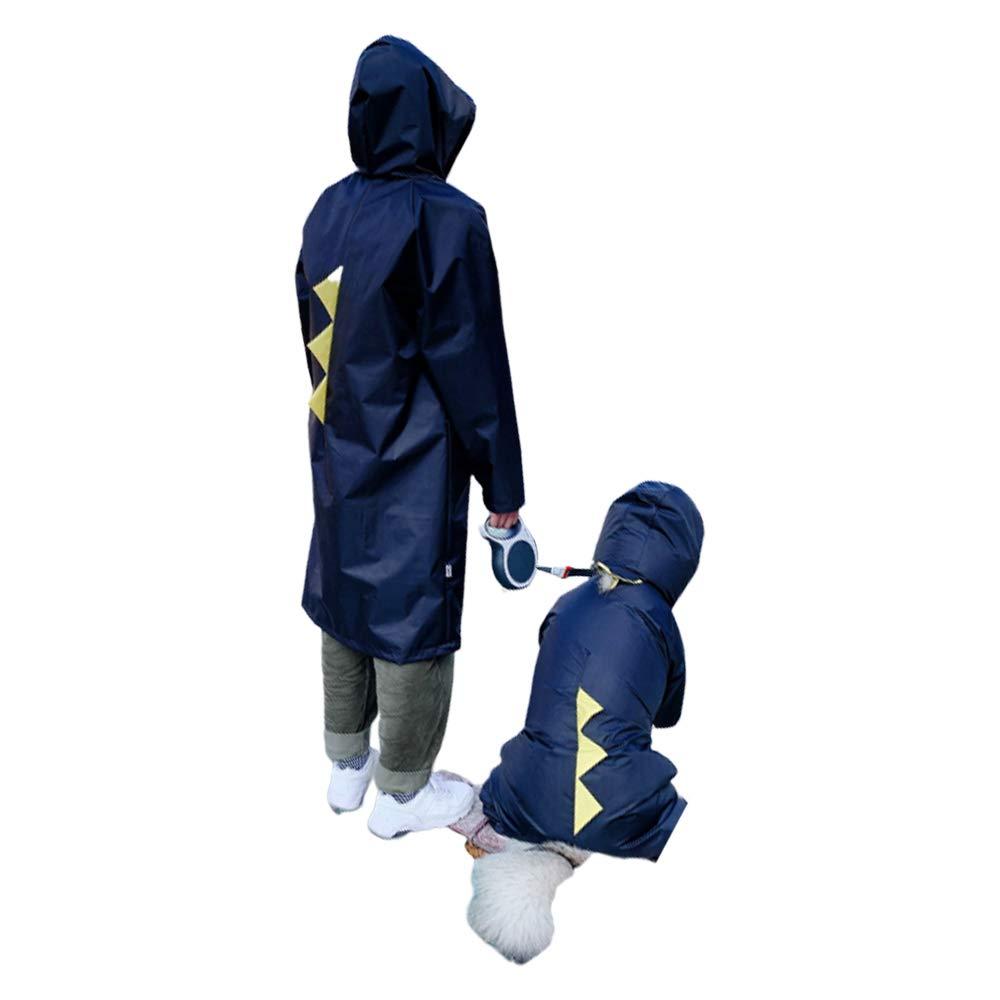 6XL Dog Raincoats Waterproof, Dog Raincoat with Hood, Collar Hole, Safe Reflective Strips, Lightweight Packable Outdoor Dog Hooded Raincoat,6XL