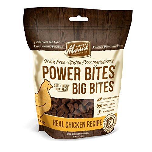 Merrick Power Bites - Big Bites Real Chicken Recipe Dog Treat, (Big Bites Food)