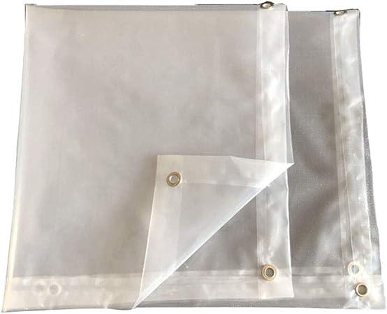 Lona Transparente Aislante térmico con Borde Perforado de plástico Resistente al Agua para Parabrisas, plástico, Transparente, 3 * 3M: Amazon.es: Hogar