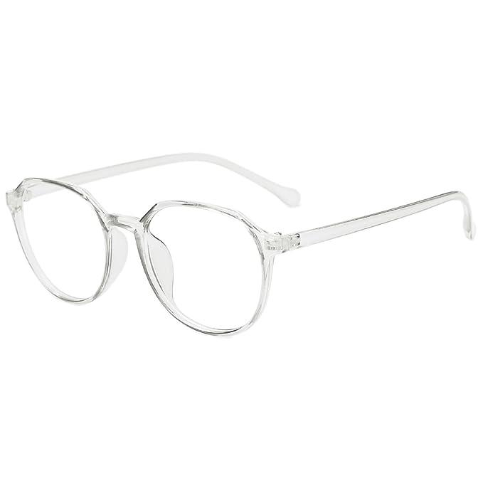 b7ed0bbc4a75 Slocyclub New Vintage Full Rim Eyeglasses Classic Transparent Frame Optical  Eyewear with Clear Lens for Women