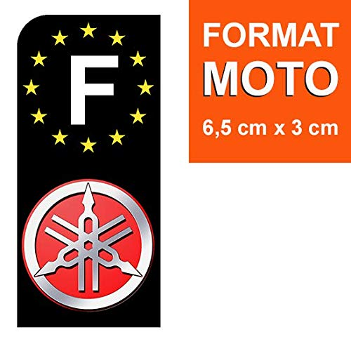 Yamaha Noir Stickers Garanti 5 Ans Nos Stickers sont recouvert dun pelliculage de Protection sp/écifique DECO-IDEES 1 Sticker pour Plaque dimmatriculation Moto