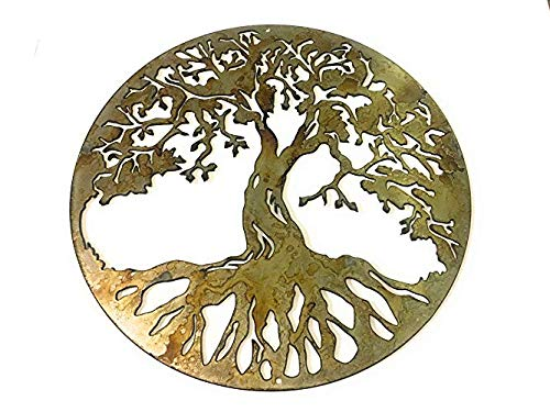 Rustic Patina Tree of Life Steel Home Decor wall art