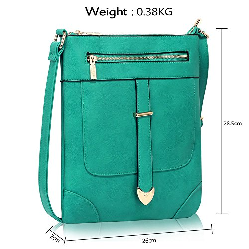 Front Womens Designer Body Teal Shoulder New Luxury Cross Messenger 1 Bags With Crossbody Zip Ladies Design taqwPx