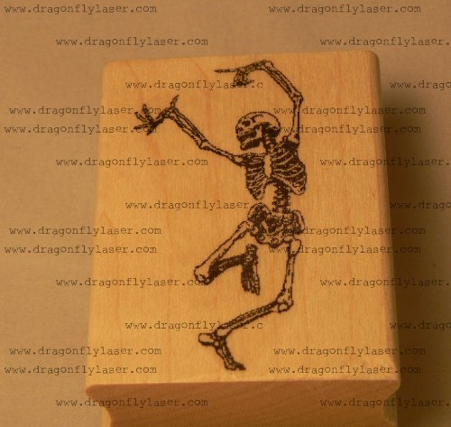 Dancing Skeleton rubber stamp, Halloween! P39