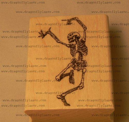 Dancing Skeleton rubber stamp, Halloween! P39 (Skeleton Rubber)