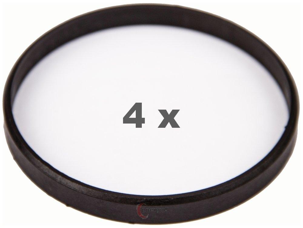 4 X anelli di centraggio 76.0 a 71.6 marrone scuro/marrone scuro Pneugo