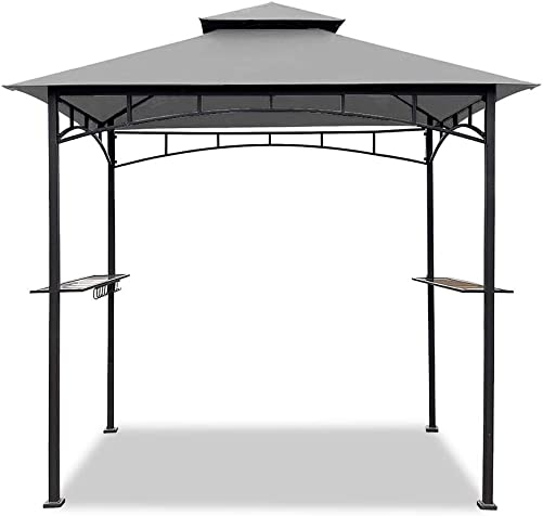 Easylee 5'x8' BBQ Grill Gazebo Outdoor Double Tiered Canopy Tent