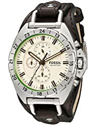 Fossil Mens CH3004 Breaker All-Terrain Chronograph Leather Watch - Brown