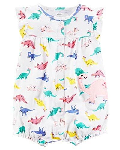 Carter's Baby Girls' Dino Print Snap up Romper (Print Snap)