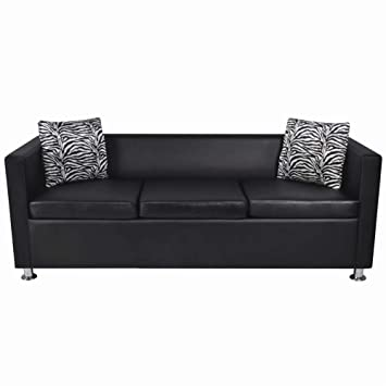Amazon.com: Sofa Artificial Leather for Apartment Living ...
