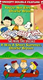 Peanuts-Snoopy Double Feature (You're Not Elected, Charlie Brown/It Was a Short Summer, Charlie Brown) [VHS]