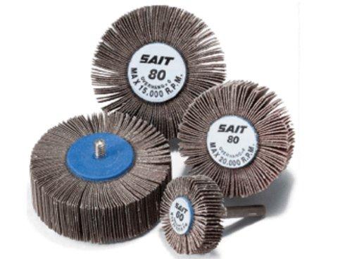 United Abrasives-SAIT 71161 3A Flap Wheel, 2 x 1 x 1/4-20, 80X, 10-Pack